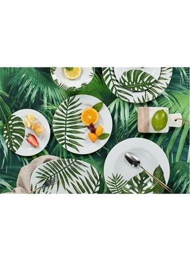Porland Botanik 24 Parça 6 Kişilik Yemek Takımı Renkli